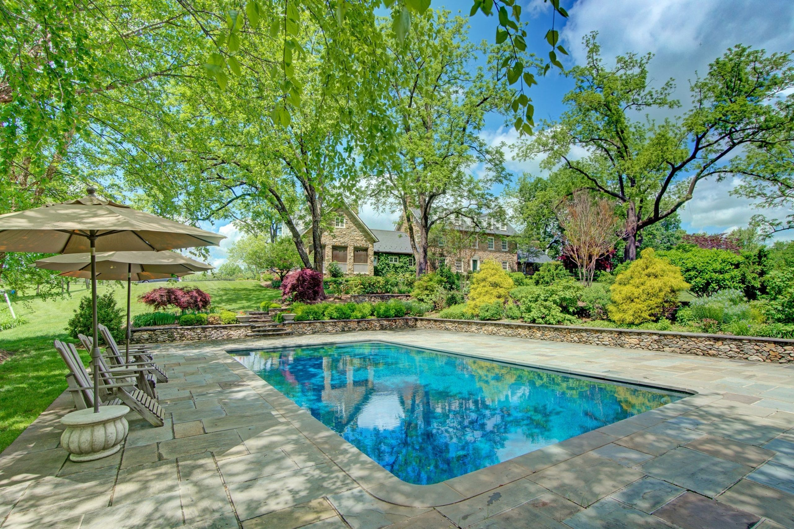 1890 Stone Manor on 94 acres in Middleburg