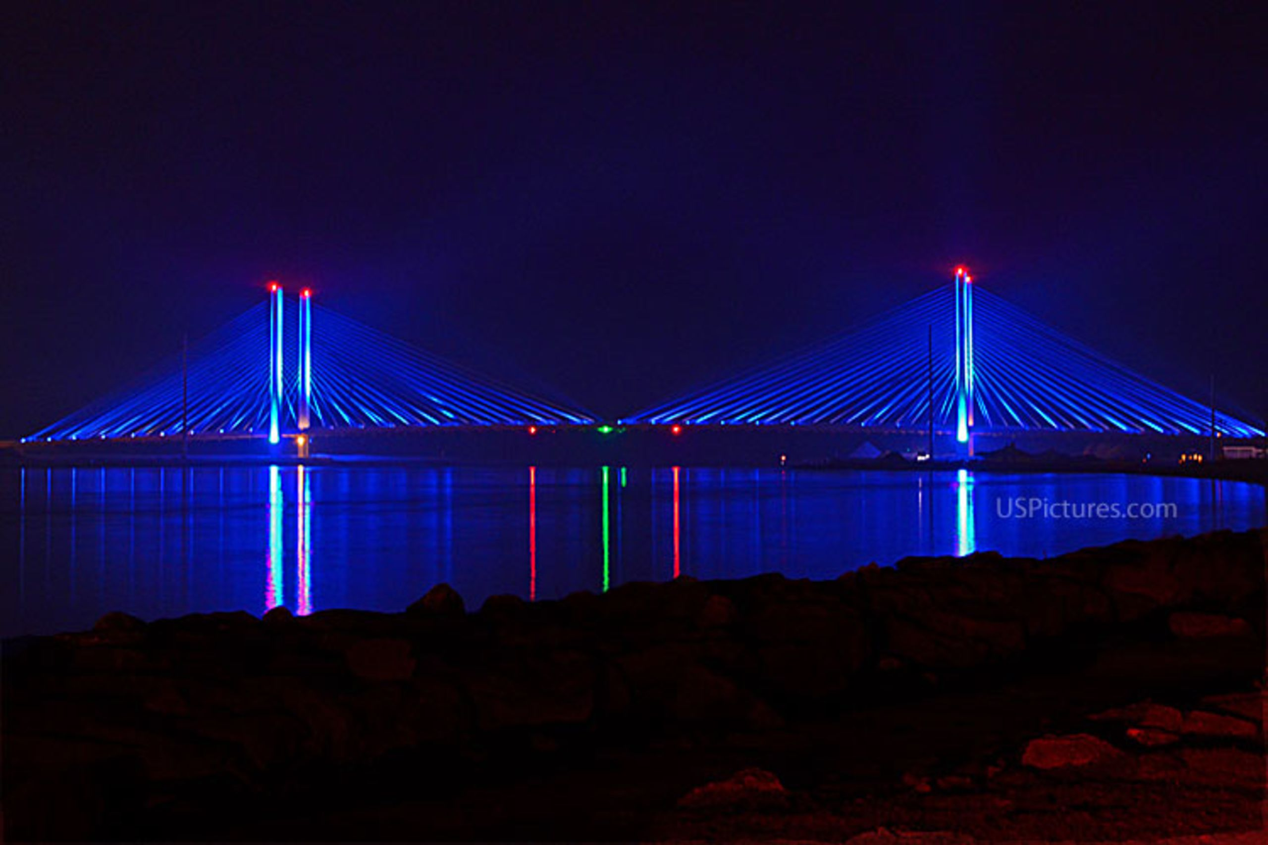 Indian River Inlet at Night