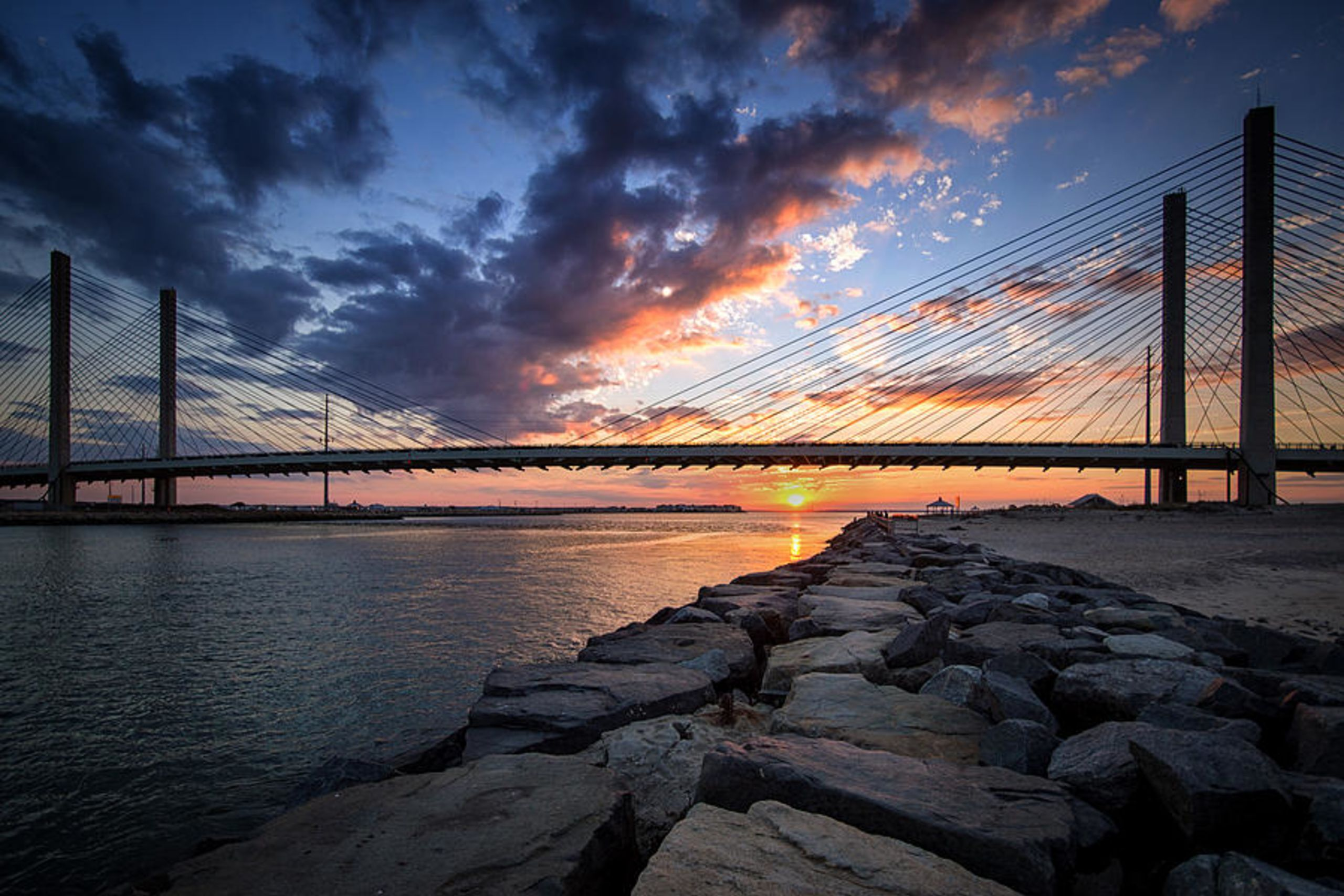 Indian River Inlet at Sunset