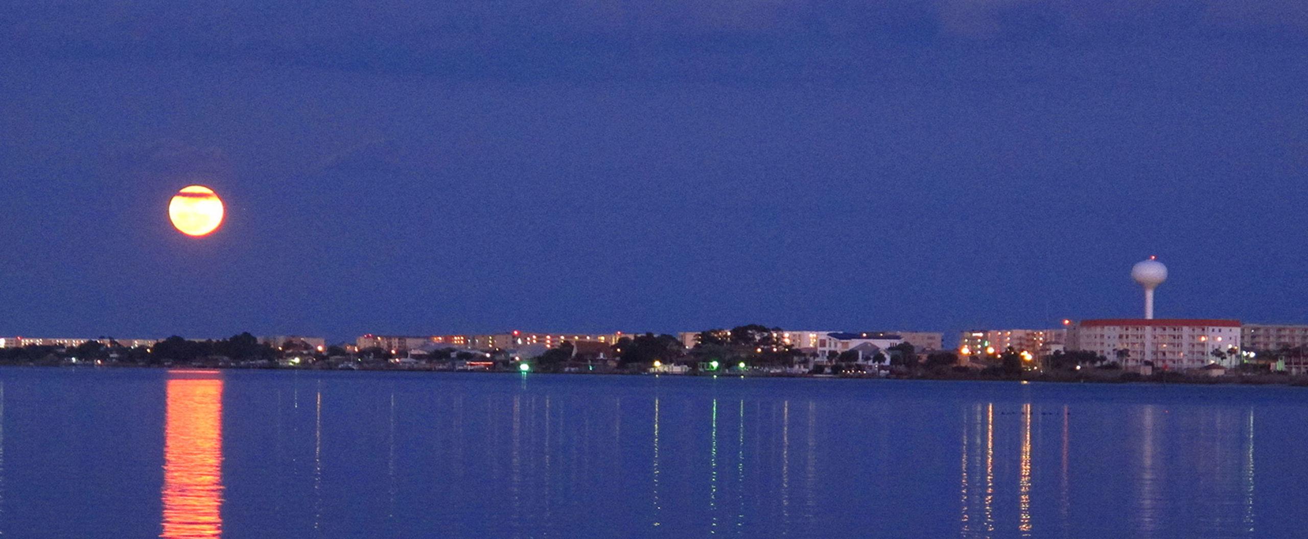 Moon over Okaloosa Island