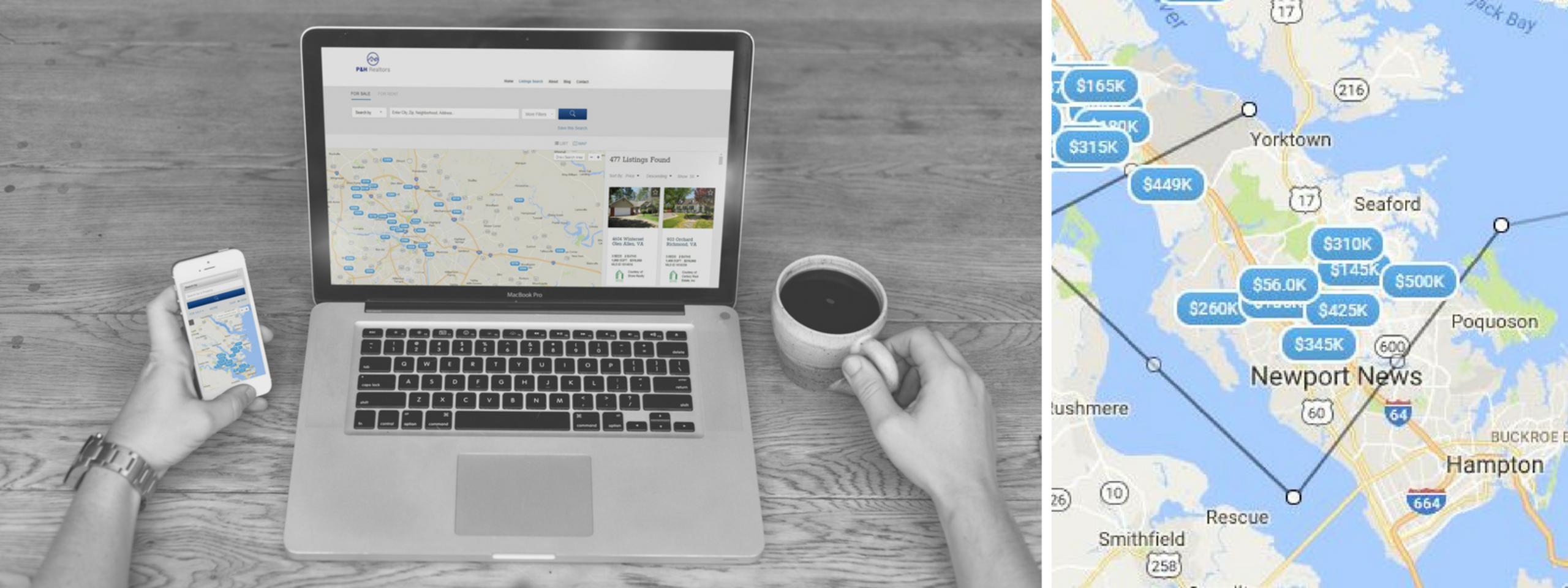 Utiliza el mapa para buscar casas