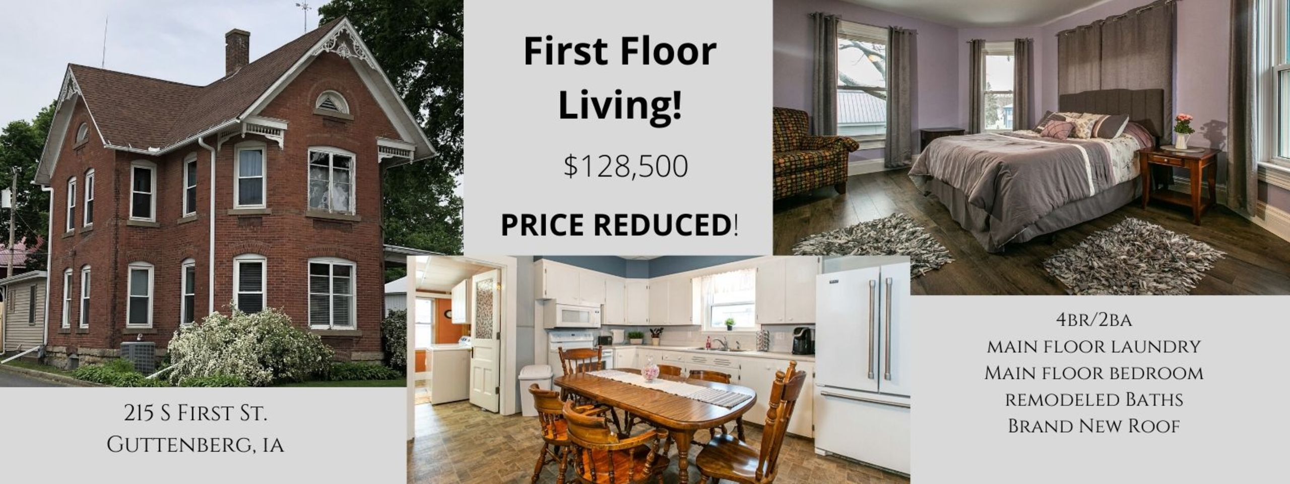 Beautiful Updated Home in Downtown Guttenberg!  Call Jonna for a showing.   563.580.7522