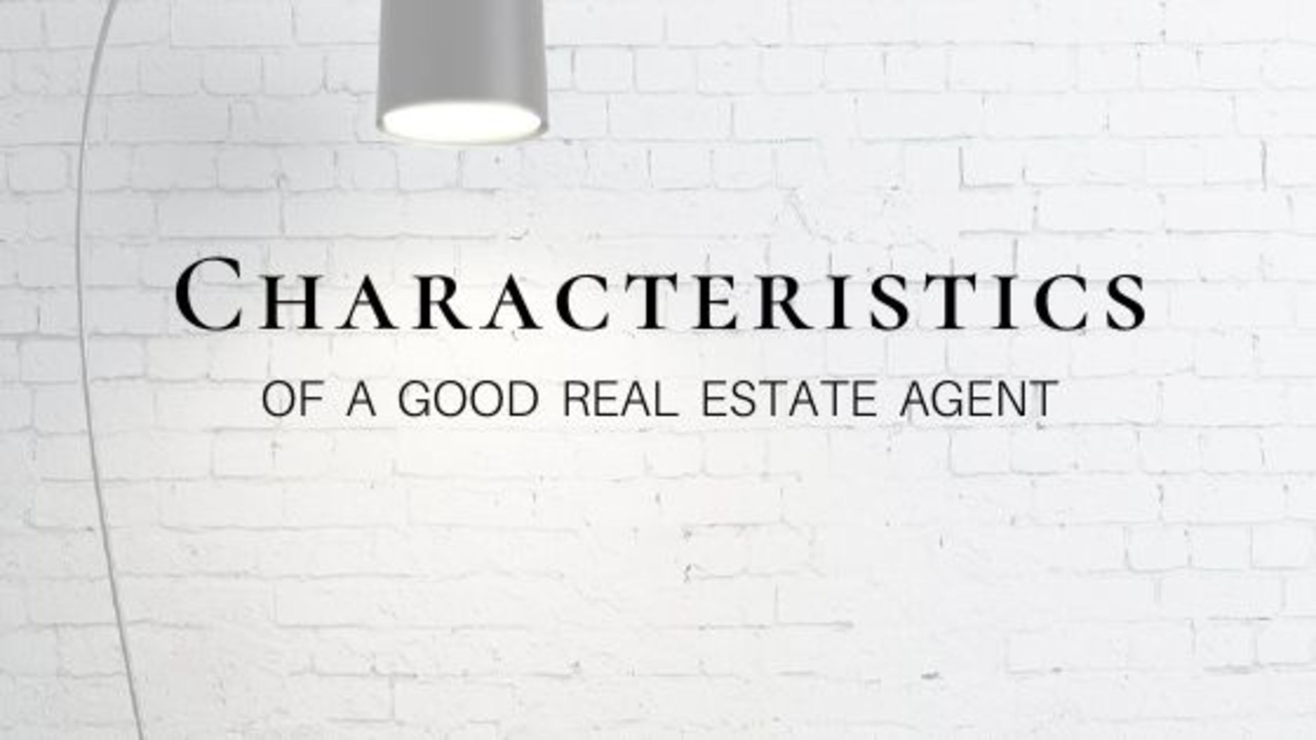 What should you be looking for in an agent?