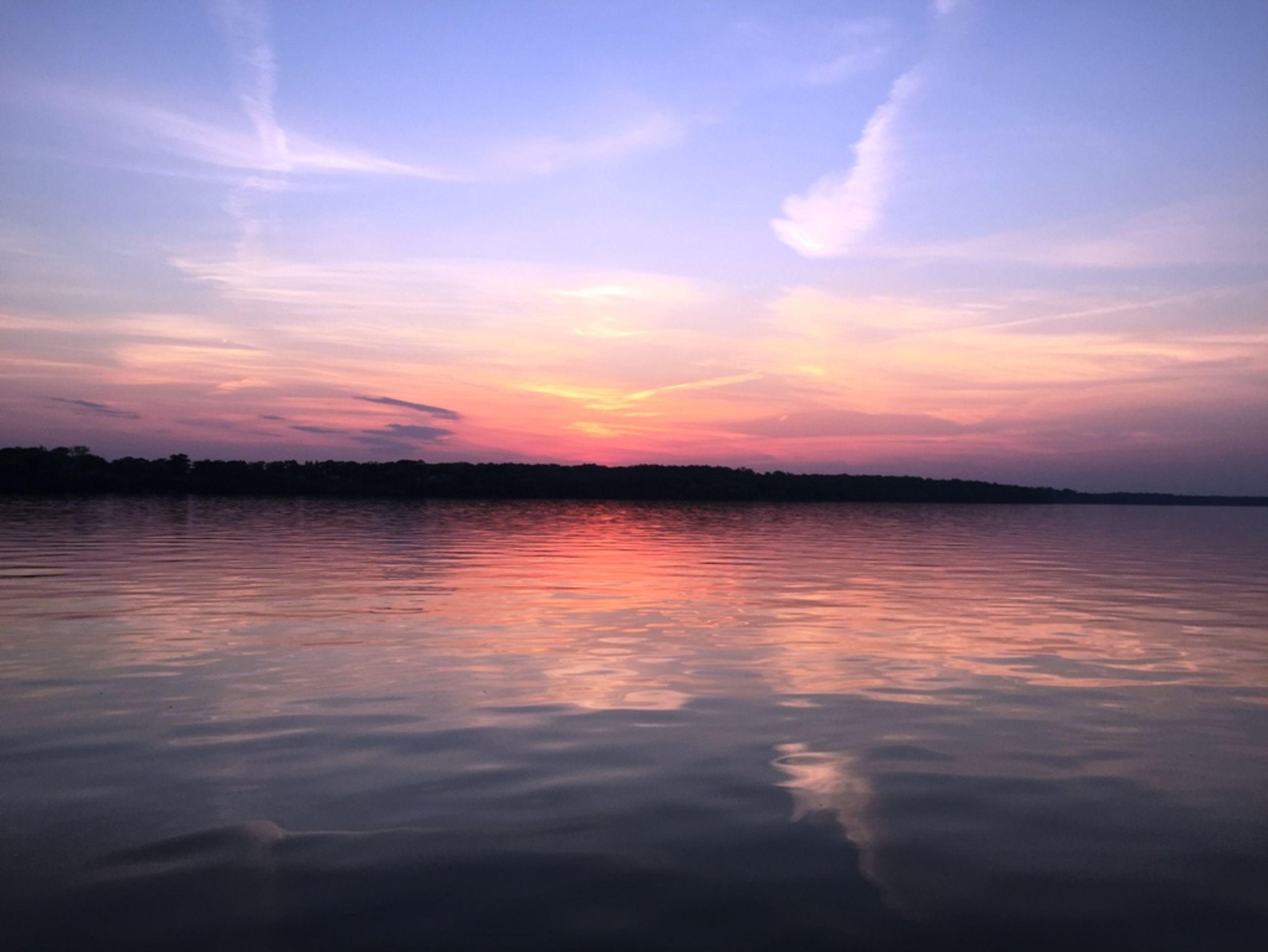Sunset View Of Sauk Lake