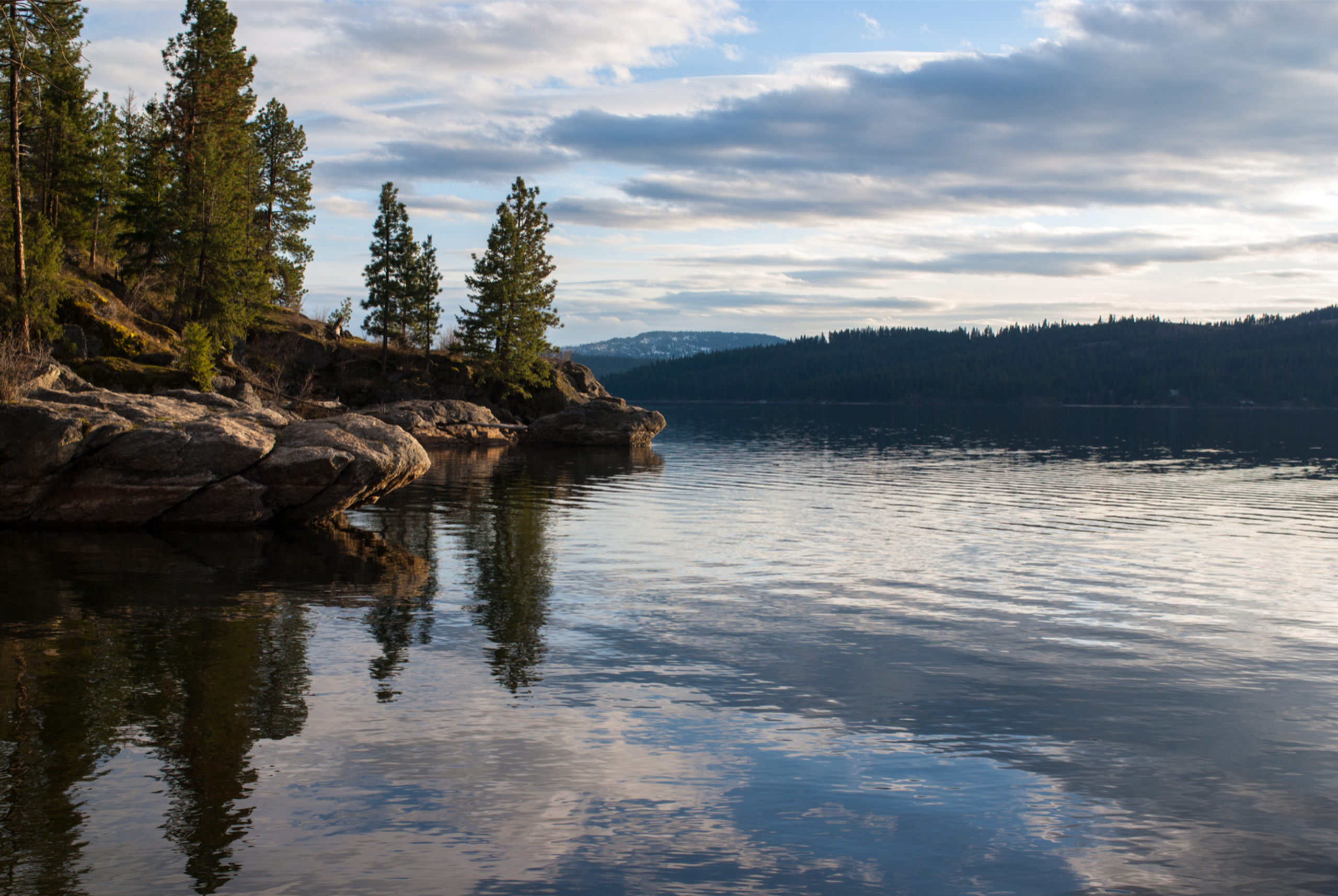 Tubbs Hill trail along Lake Coeur d'Alene
