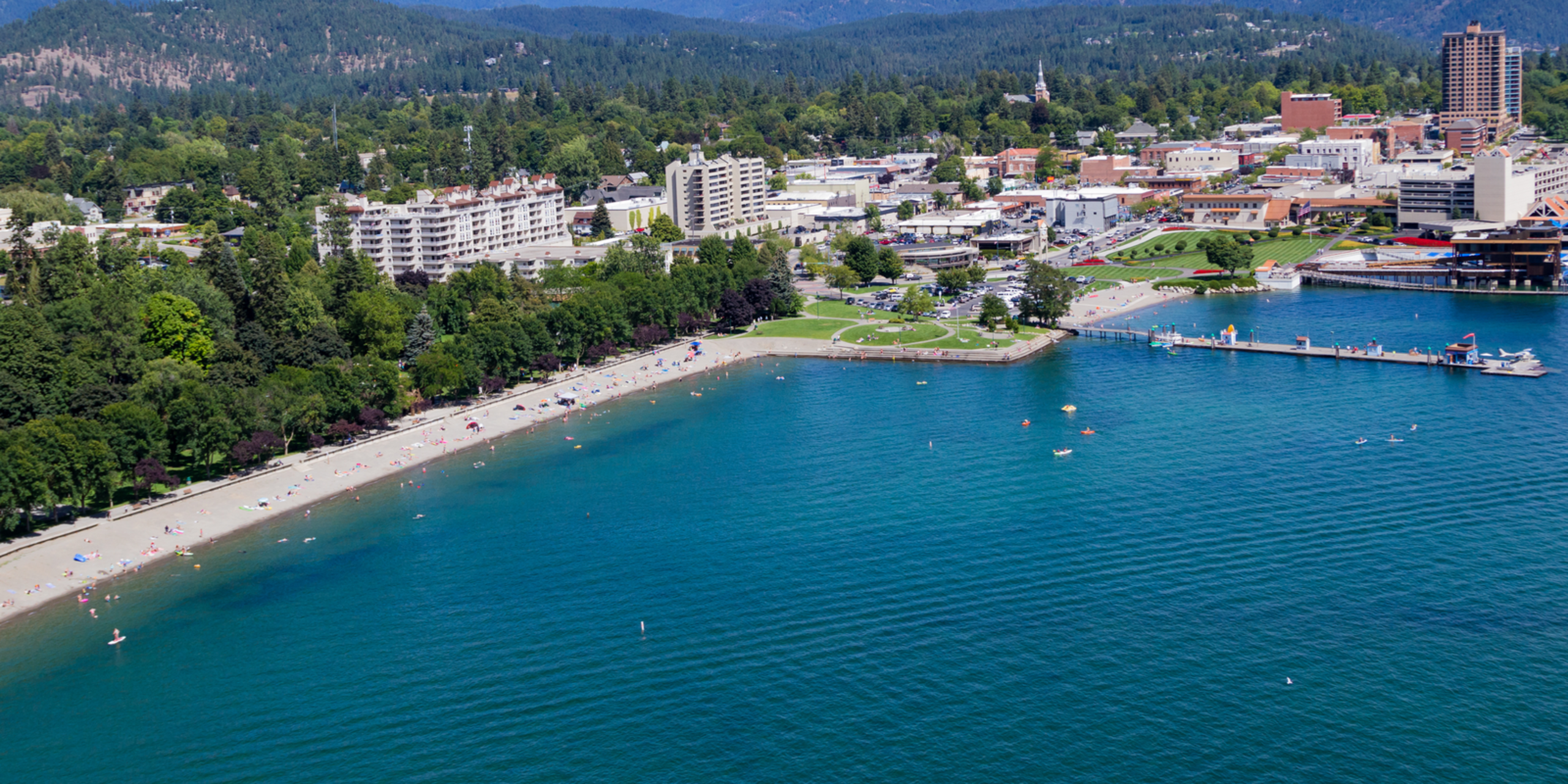 Downtown Coeur d'Alene & City Beach