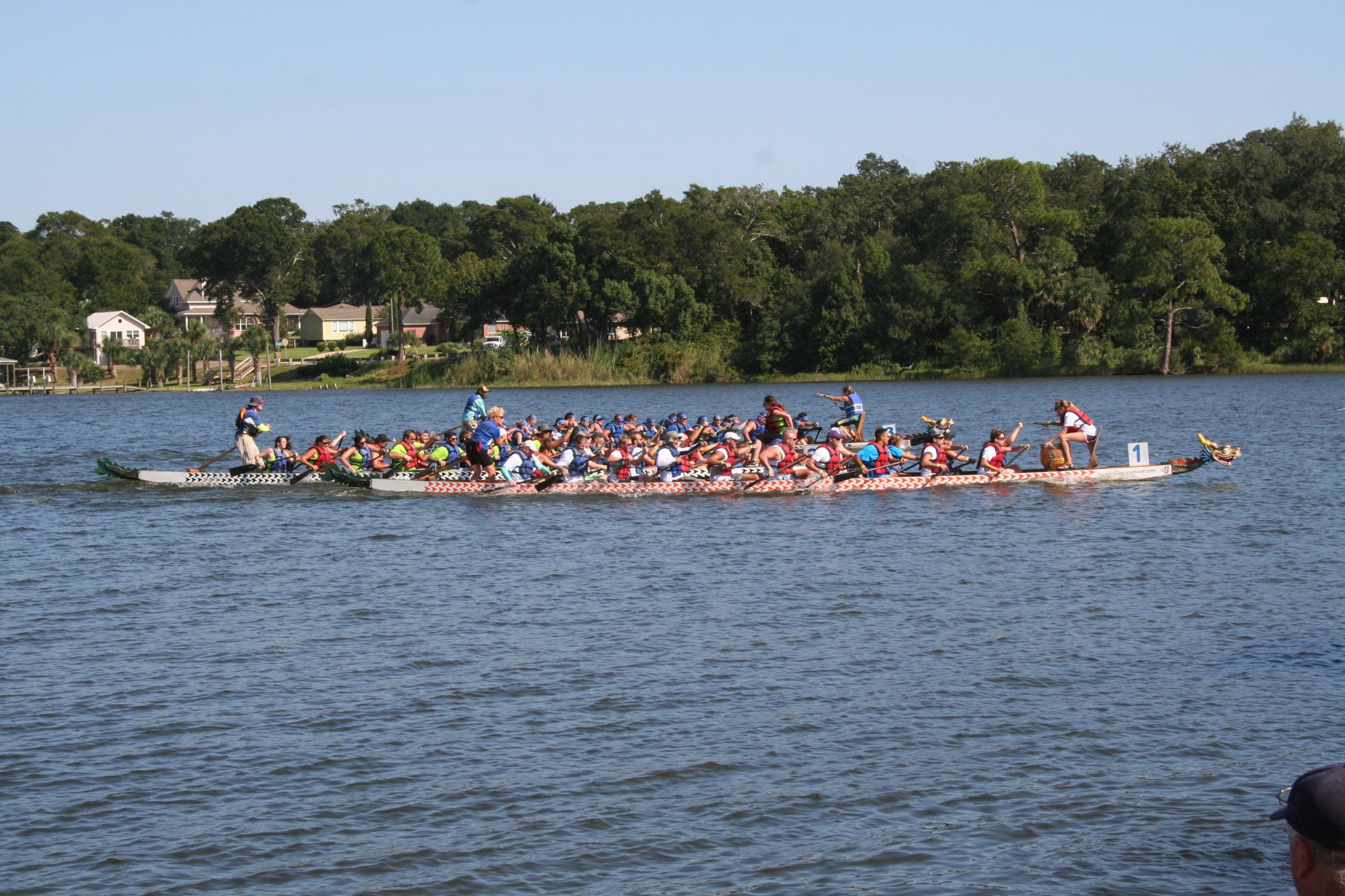 Dragon Boat Races at Bayou Texar