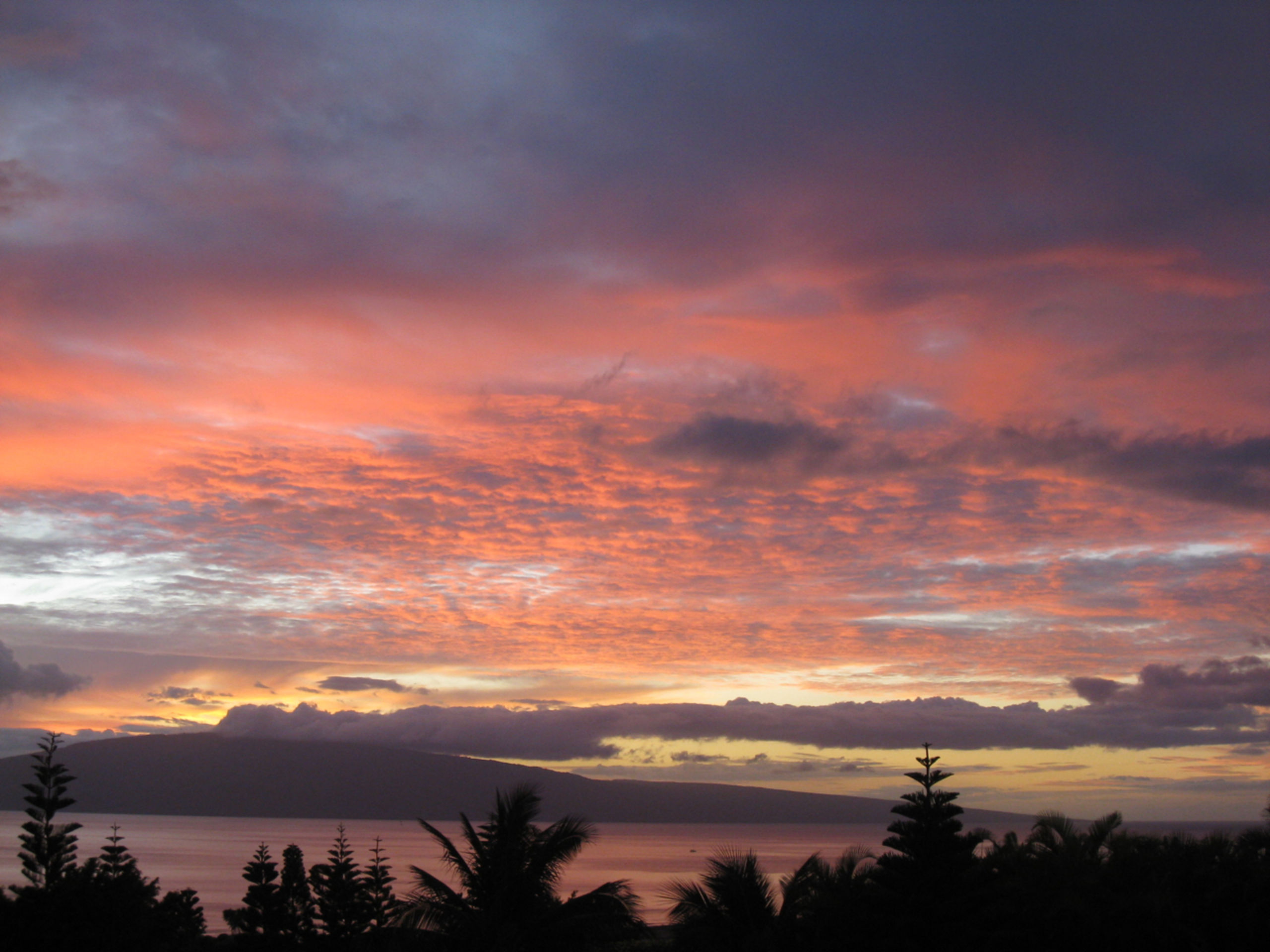 Sunset view from 199 Paia Pohaku