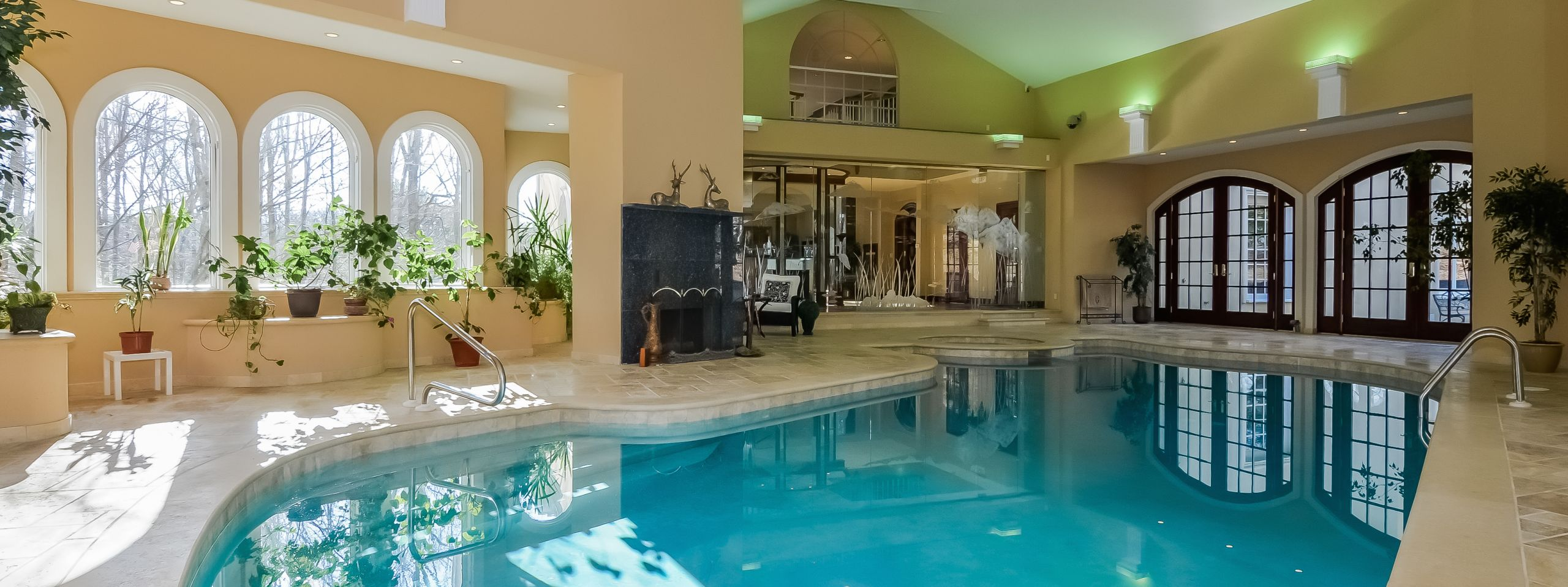 Swim laps daily with this indoor pool!