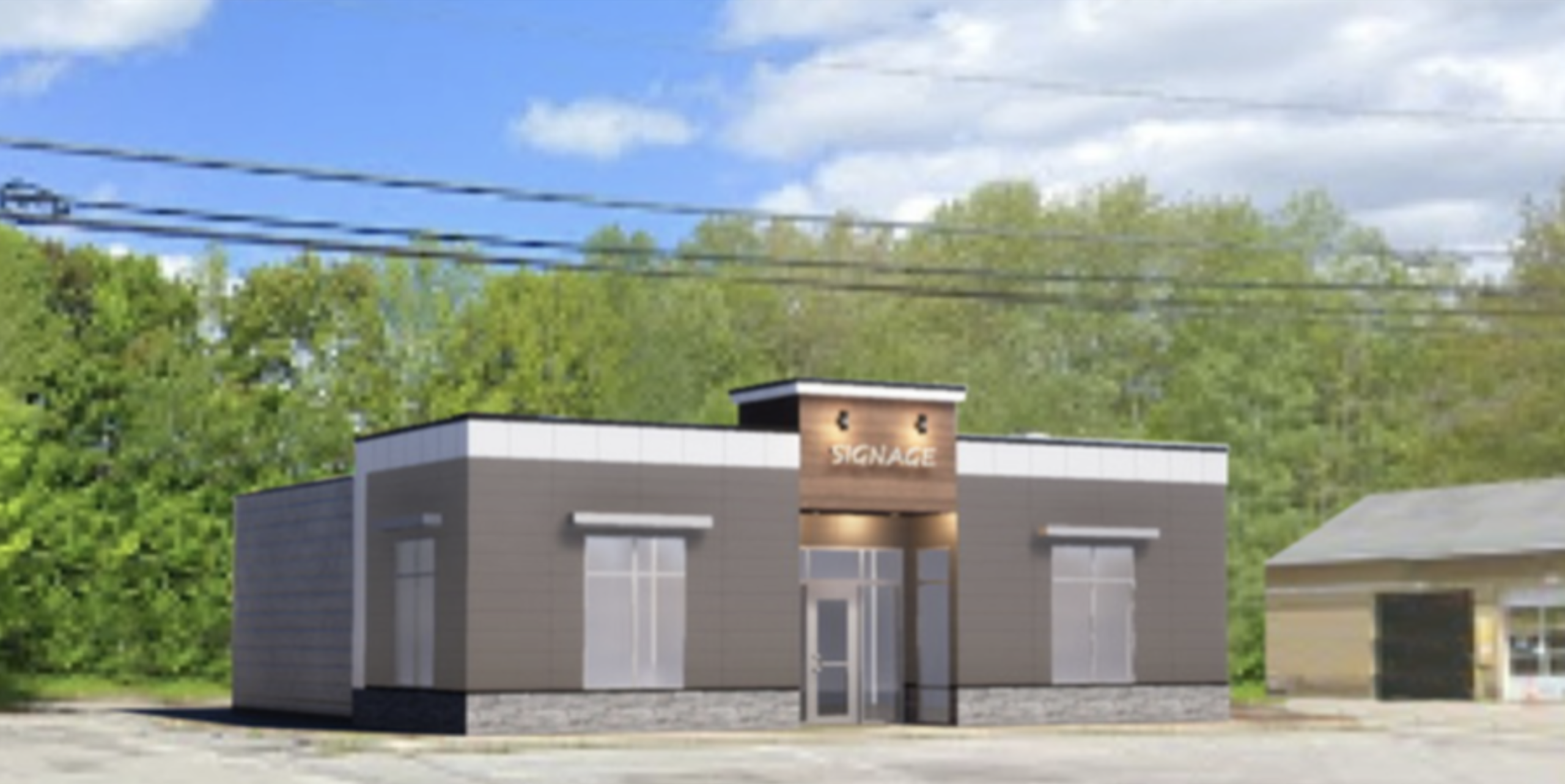 Commercial Property for Lease being built at 1128 Lisbon Street in Lewiston