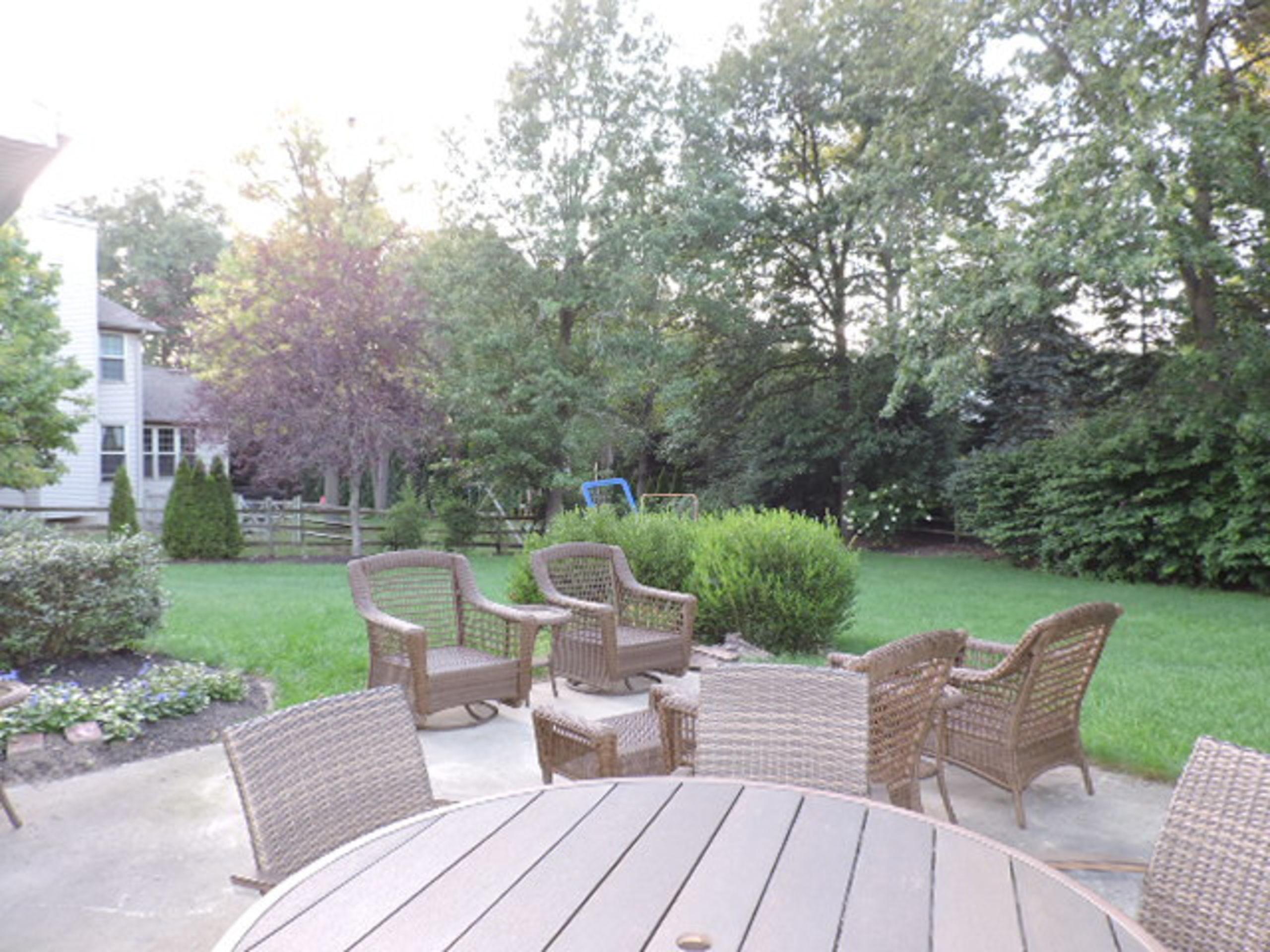 Nice rear yard with patio
