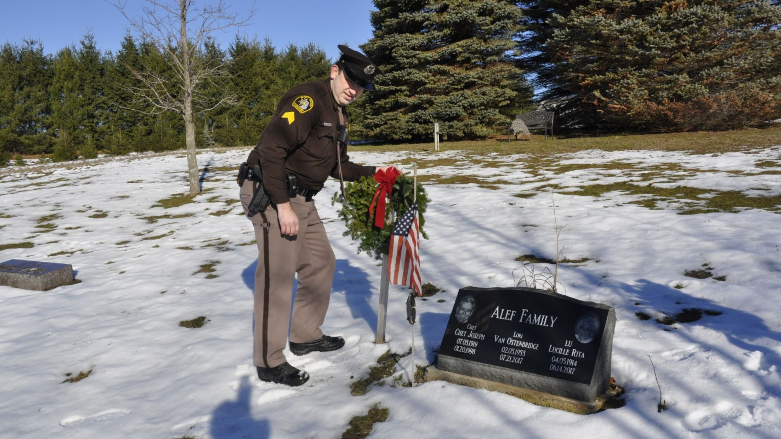 "We value and appreciate the sacrifices of our veterans as seen in our annual ""Wreaths Across America"" remembrance"