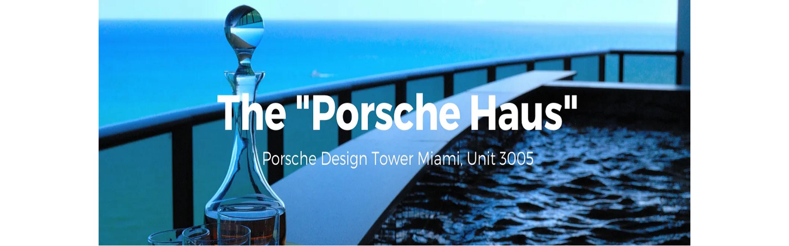 "The ""Porsche Haus"" at Porsche Design Tower Miami."