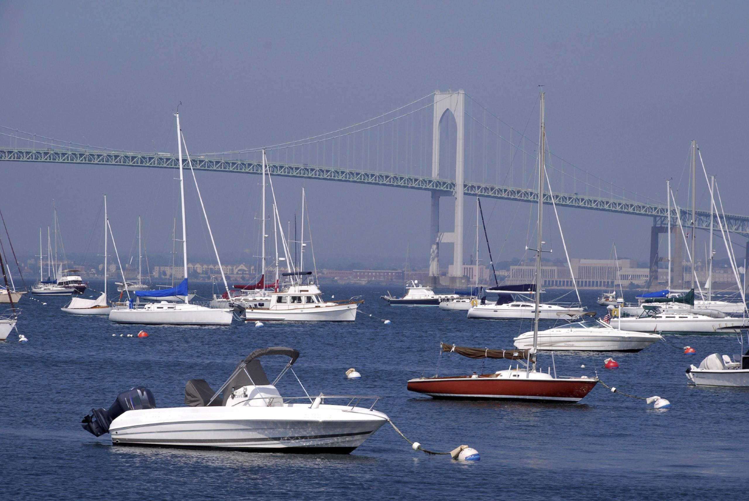 Newport Bridge and Boats