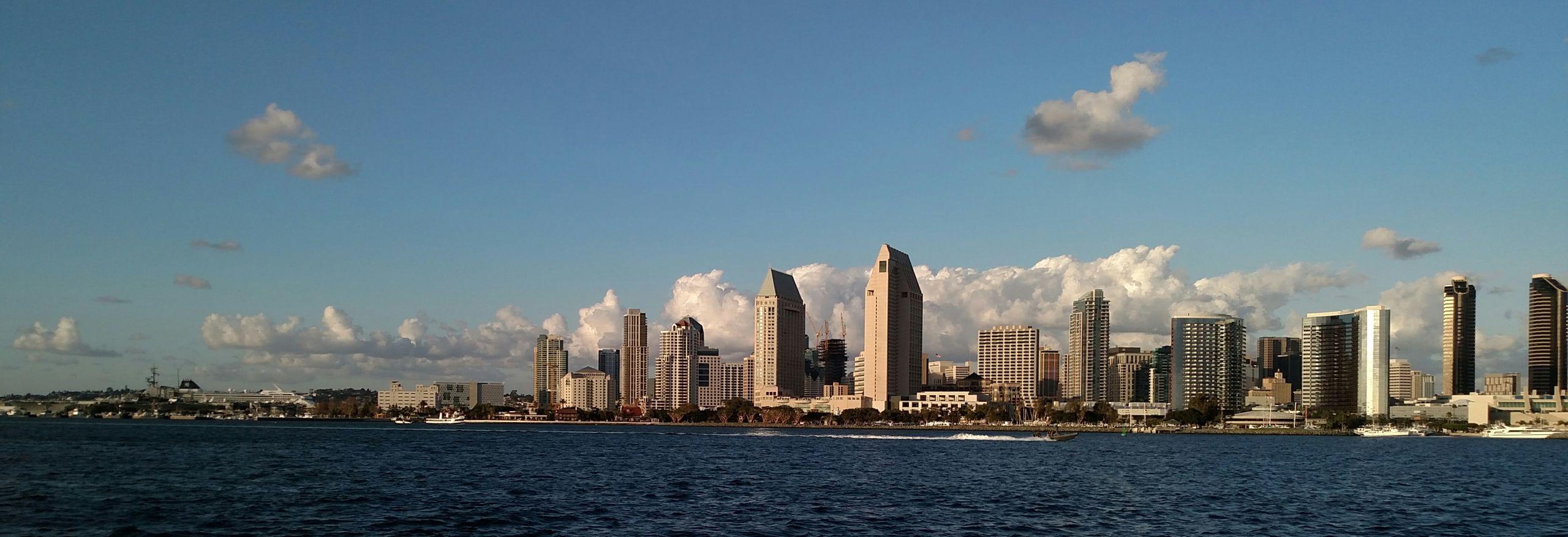 View from Coronado Island San Diego