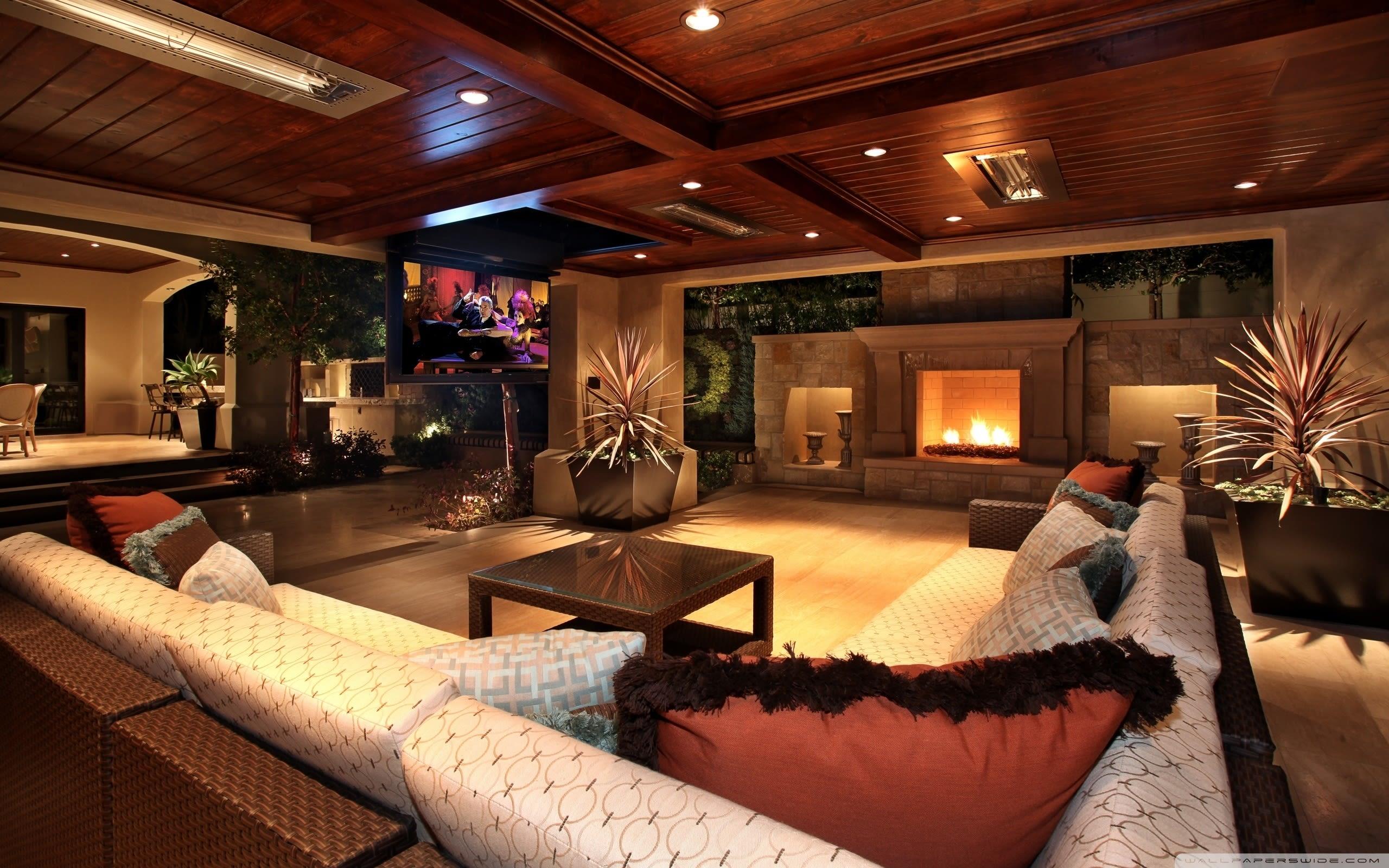 Plush comfortable interior design