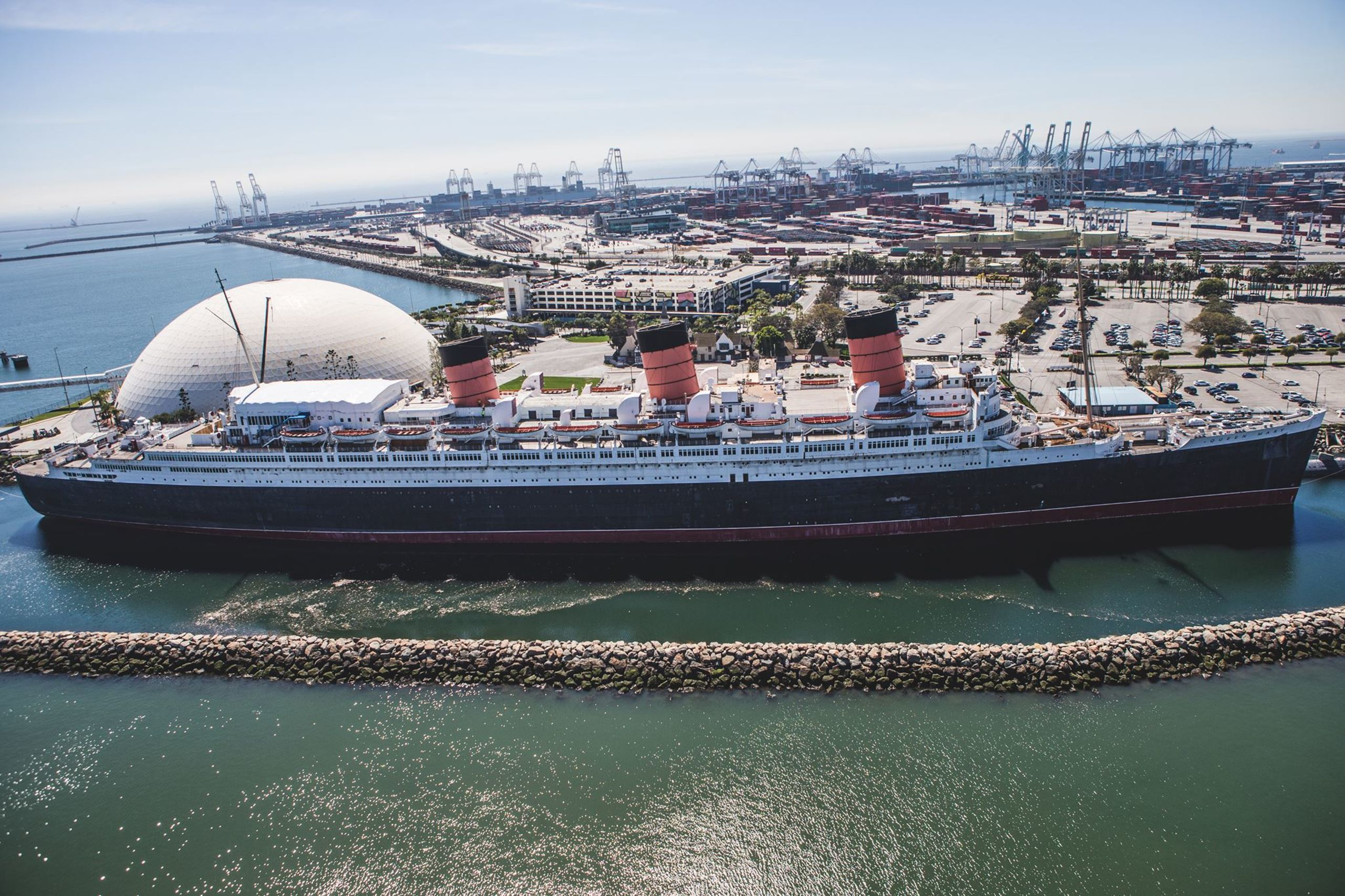 Iconic Long Beach Queen Mary by Conner Robbins