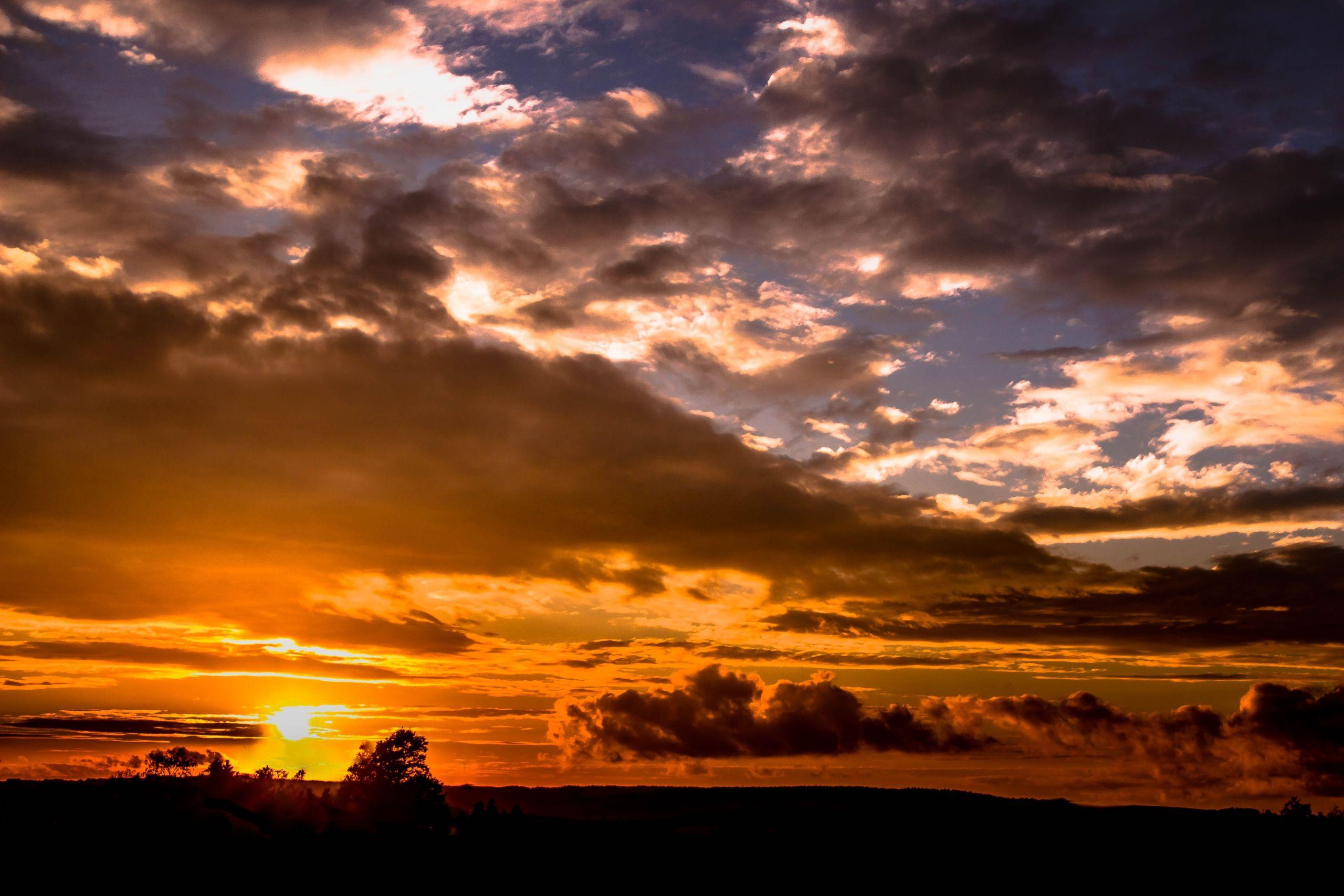 Sunset over the high desert