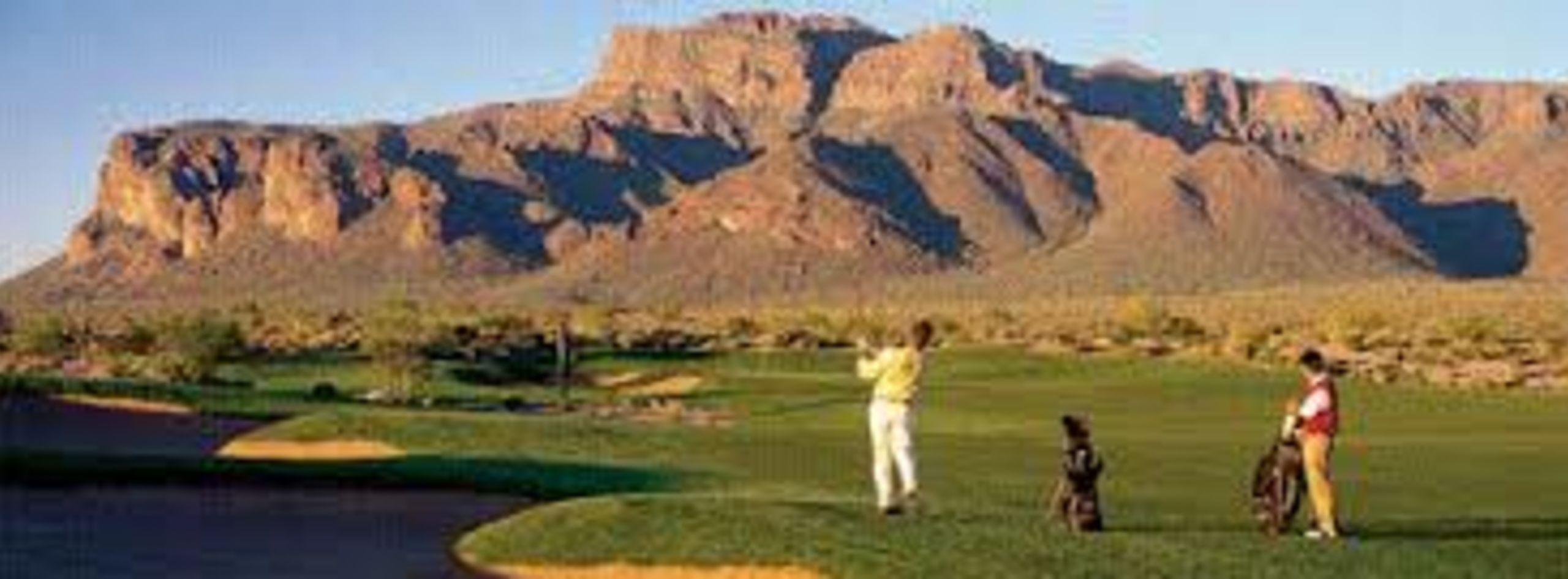 Enjoy the striking views while golfing