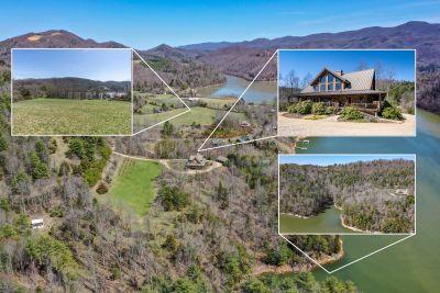 Contemporary Mountain Home + Land for Sale on Watauga Lake