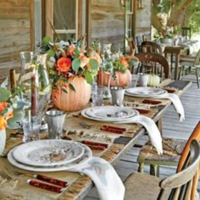 Weekend Project – Thanksgiving Tablescape