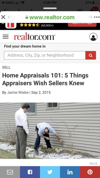 Things us Appraisers would like home sellers to know