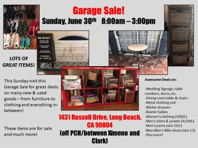 Don't Miss This Terrific Garage Sale!!!
