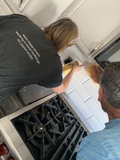 Inexpensive Kitchen Updates: Backsplash Edition!