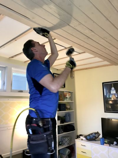 Weekend Warrior–New Ceiling Edition!