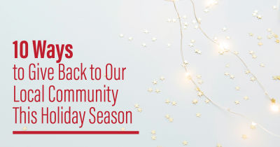 Ways to Give Back to Our Local Community This Holiday Season
