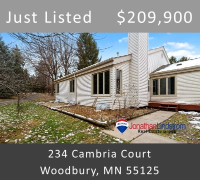 Just Listed – 234 Cambria Court, Woodbury, MN 55125