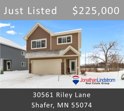Just Listed -30561 Riley Lane, Shafer, MN 55074