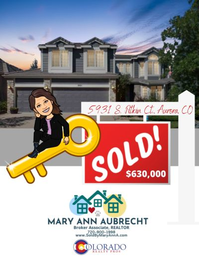 Listed & Sold! 5931 S Pitkin Court Aurora CO 80016