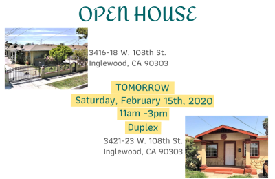 Two Open Houses!