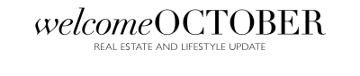 UTAH'S OCTOBER REAL ESTATE AND LIFESTYLE UPDATE