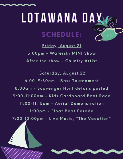 Lotawana Day Schedule and Events 2020