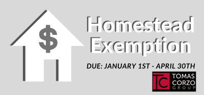 Don't Forget! File for Homestead Exemption