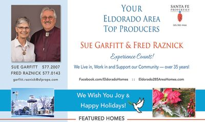 Look for our ad in the December issue of Eldorado Living