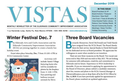 December Vistas Community Newsletter Now Available