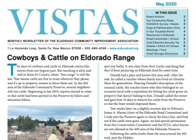 May Vistas Community Newsletter Now Available