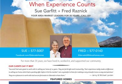 Did you see our ad in the October issue of Eldorado Living?