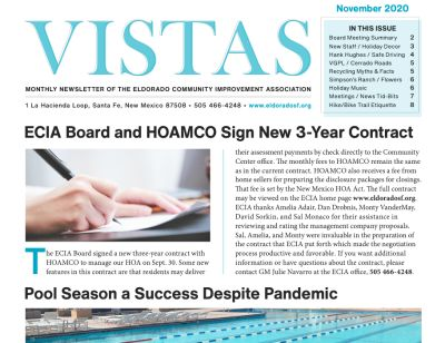 November Vistas Community Newsletter Now Available
