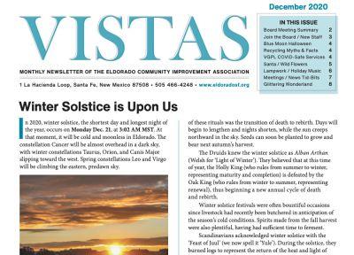 December Vistas Community Newsletter Now Available