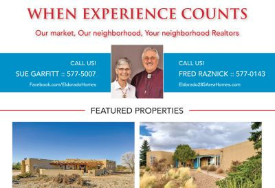 Did you see our ad in the January issue of Eldorado Living?