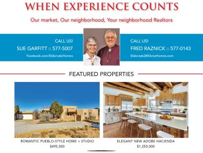 Did you see our ad in the February issue of Eldorado Living?