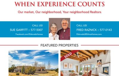 Did you see our ad in the April issue of Eldorado Living?