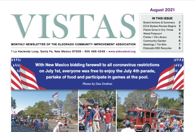 August Vistas Community Newsletter Now Available