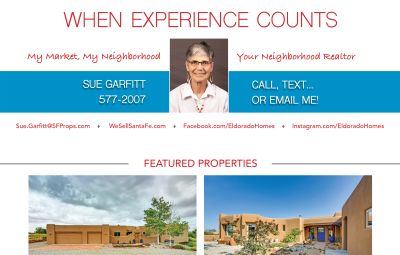 Did you see my ad in the October issue of Eldorado Living?