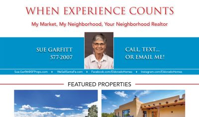 Did you see my ad in the September issue of Eldorado Living?