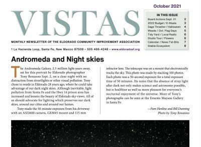 September Vistas Community Newsletter Now Available
